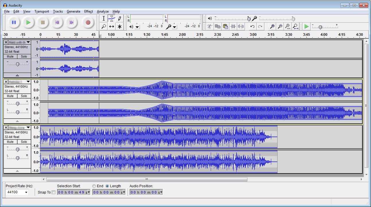 Audacity, editor de audio libre Audacity-screenshot