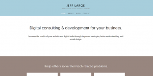 JeffLarge.com homepage